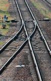 铁路轨道开关 图库摄影