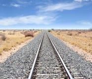 铁路轨道温得和克基特曼斯胡普,纳米比亚 库存图片