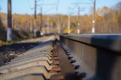 铁路轨道的金属零件 免版税图库摄影