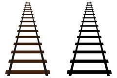 铁路轨道象 皇族释放例证