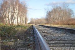 铁路轨道,加拿大 免版税库存照片