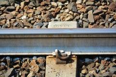 铁路轨道,细节 库存照片
