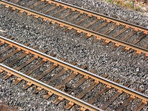 铁路轨道 免版税库存图片