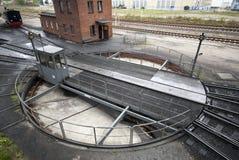 铁路转盘 库存图片