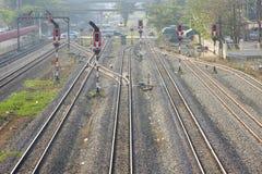 铁路运输信号 库存照片