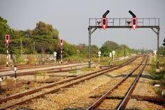 铁路运输信号 图库摄影