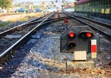 铁路运输信号 库存图片