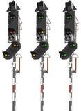 铁路运输发信号业务量 库存照片