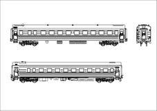 铁路运输向量无盖货车 免版税库存图片