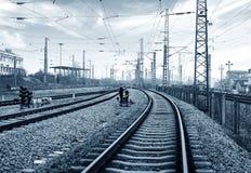铁路运输插孔,灰色口气图象 库存照片