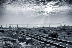 铁路运输插孔 免版税库存图片