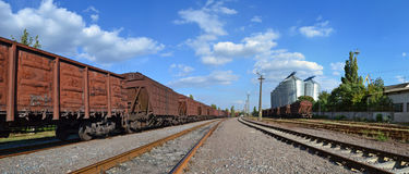铁路运输方式 库存照片