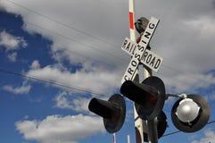 铁路运输横穿 图库摄影