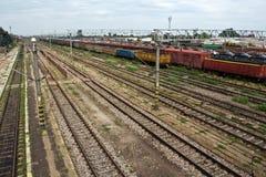 铁路运输火车站培训 库存照片