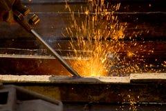 铁路运输焊接 库存图片