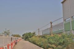 铁路近由Lantau高速公路 库存图片