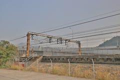 铁路近由Lantau高速公路 库存照片