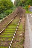 铁路选拔终止跟踪 库存图片