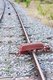 铁路锁的木头 库存照片