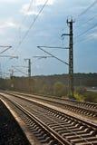 铁路阳光跟踪 库存图片