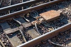 铁路阻抗债券 图库摄影