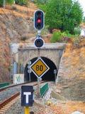 铁路隧道 免版税库存照片