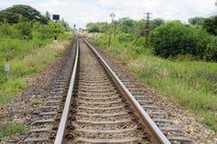 铁路风景 免版税图库摄影