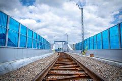 铁路高架桥克拉科夫Krzemionki -克拉科夫Zablocie 免版税库存图片