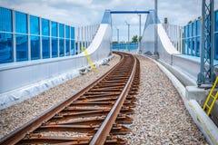 铁路高架桥克拉科夫Krzemionki -克拉科夫Zablocie 免版税图库摄影