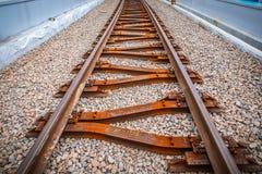 铁路高架桥克拉科夫Krzemionki -克拉科夫Zablocie 免版税库存照片