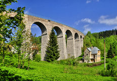 铁路高架桥 图库摄影