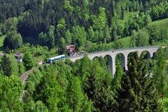 铁路高架桥 库存照片
