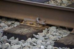 铁路紧固件 库存照片