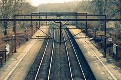 铁路 在视图之上 运输 运输 免版税库存图片