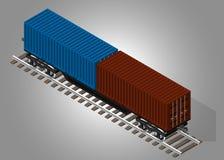 铁路货物运输 库存例证