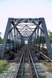 铁路建筑桥梁 免版税图库摄影