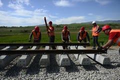 铁路建筑 免版税库存图片
