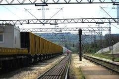 铁路建筑 免版税图库摄影