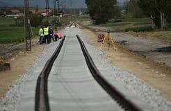 铁路建筑 免版税库存照片