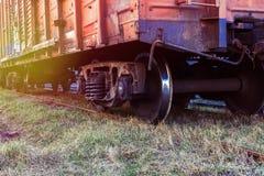 铁路货运汽车特写镜头 库存图片