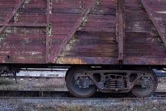 铁路货运汽车特写镜头 免版税库存照片