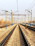铁路从长远来看 免版税库存照片