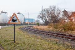 铁路Corssing 免版税图库摄影