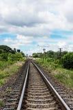 铁路protrait 免版税库存图片