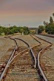 铁路Swithes 免版税图库摄影