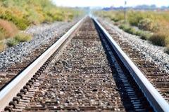 铁轨在新墨西哥 库存图片