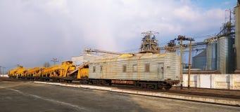 铁轨工具在铁路建造场所 图库摄影