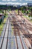 铁轨的视图 库存图片