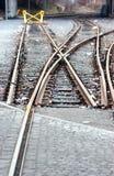 铁轨终止 库存照片