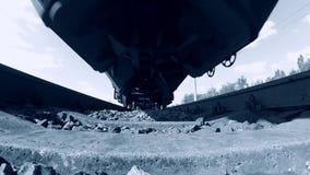 铁轨铁路训练运输系统最快速度 股票视频
